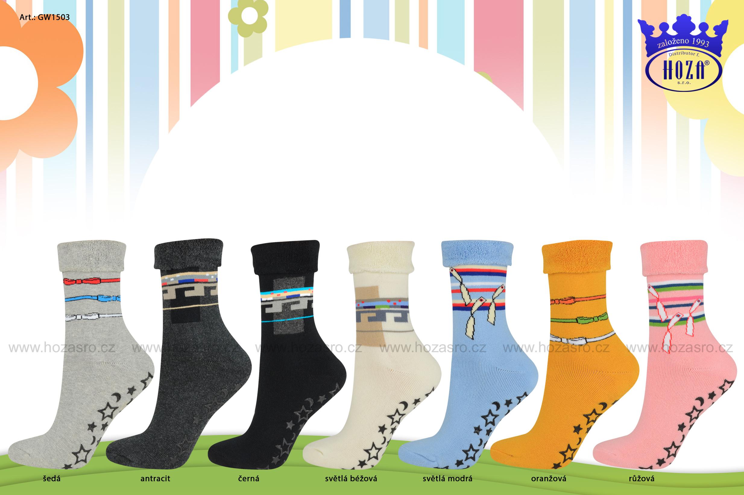 Dětské froté ponožky - ABS - GW1503