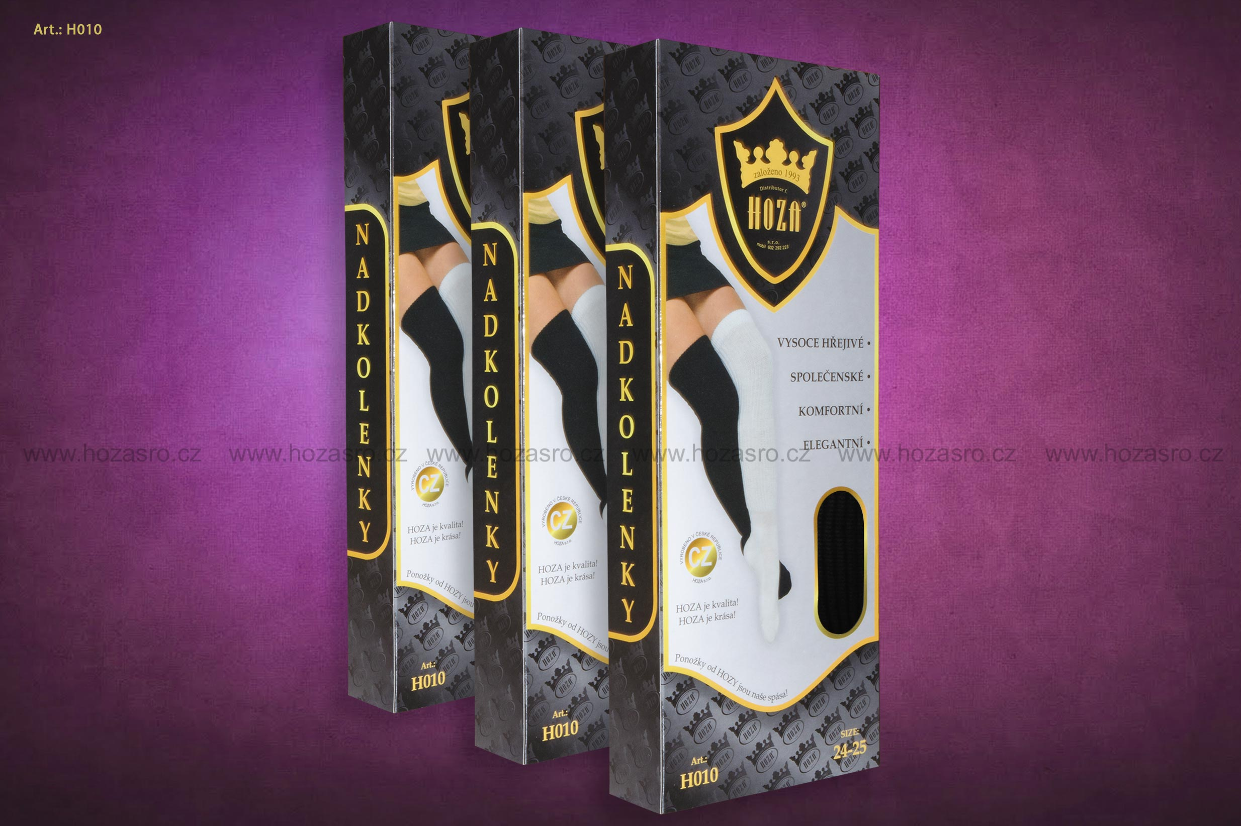 Dámské nadkolenky HOZA hřejivé - akryl - H010