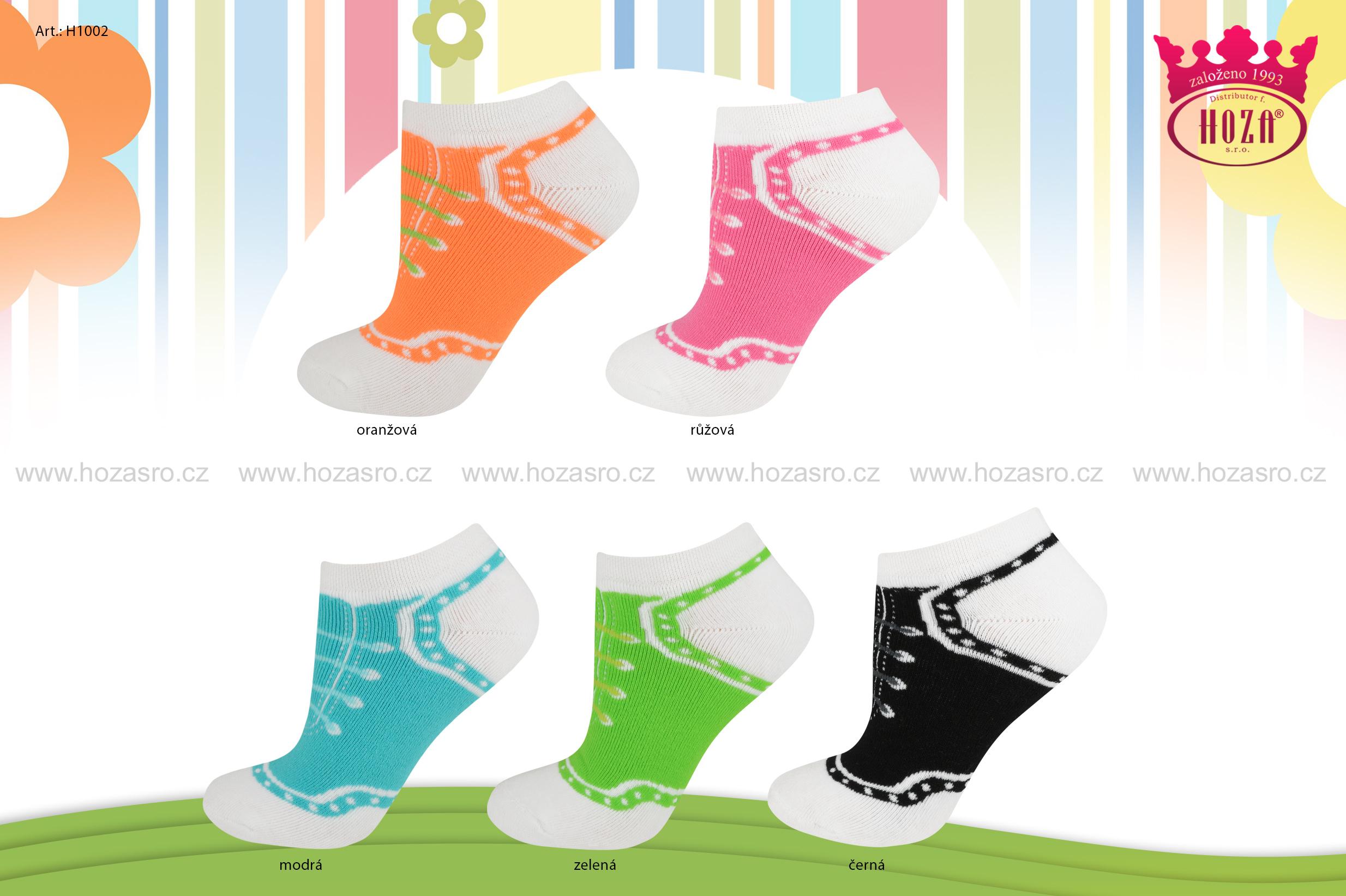 Dětské kotníkové ponožky froté - tkaničky - H1002