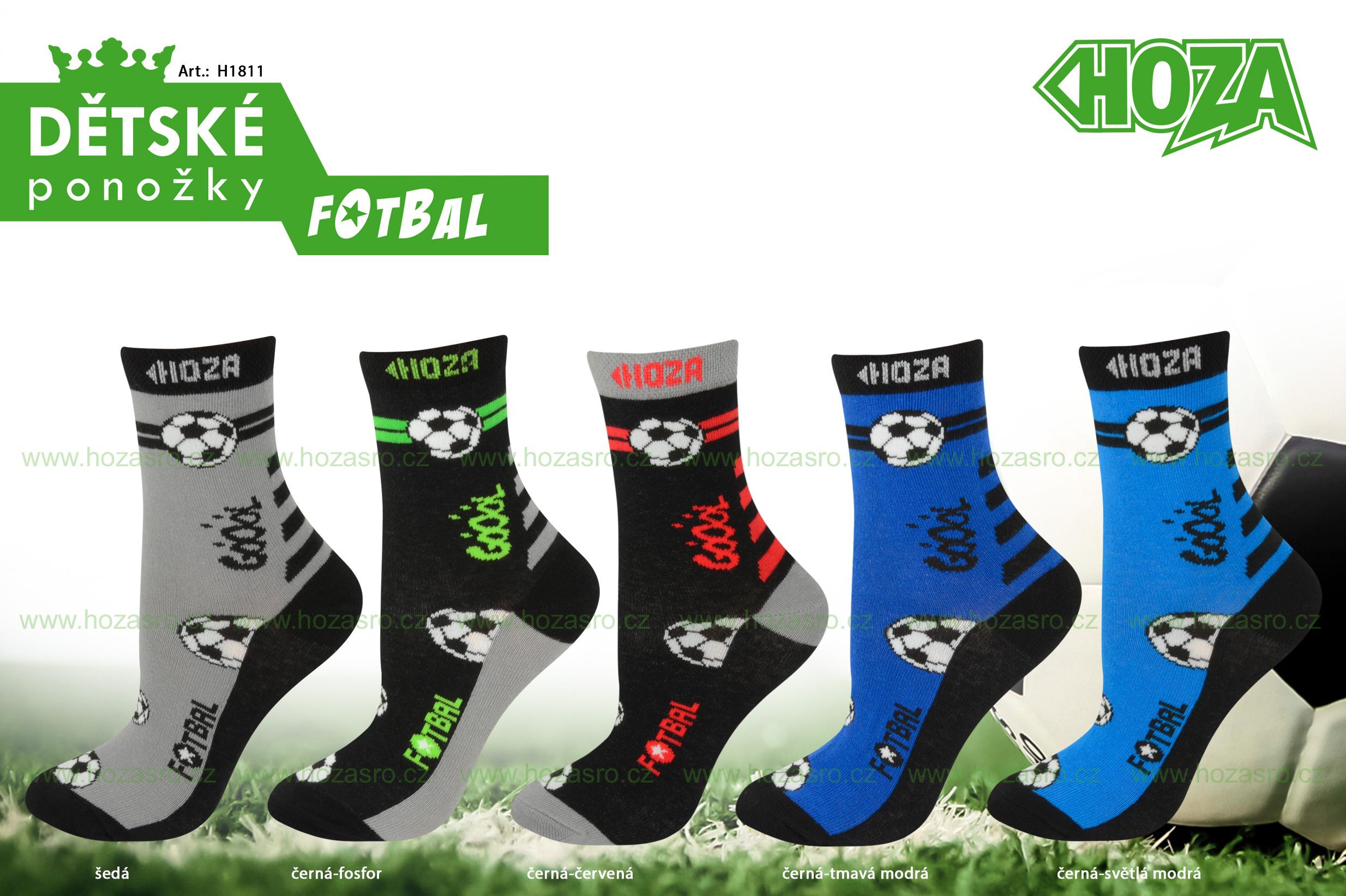 Dětské ponožky HOZA s elastanem - Fotbal - H1811