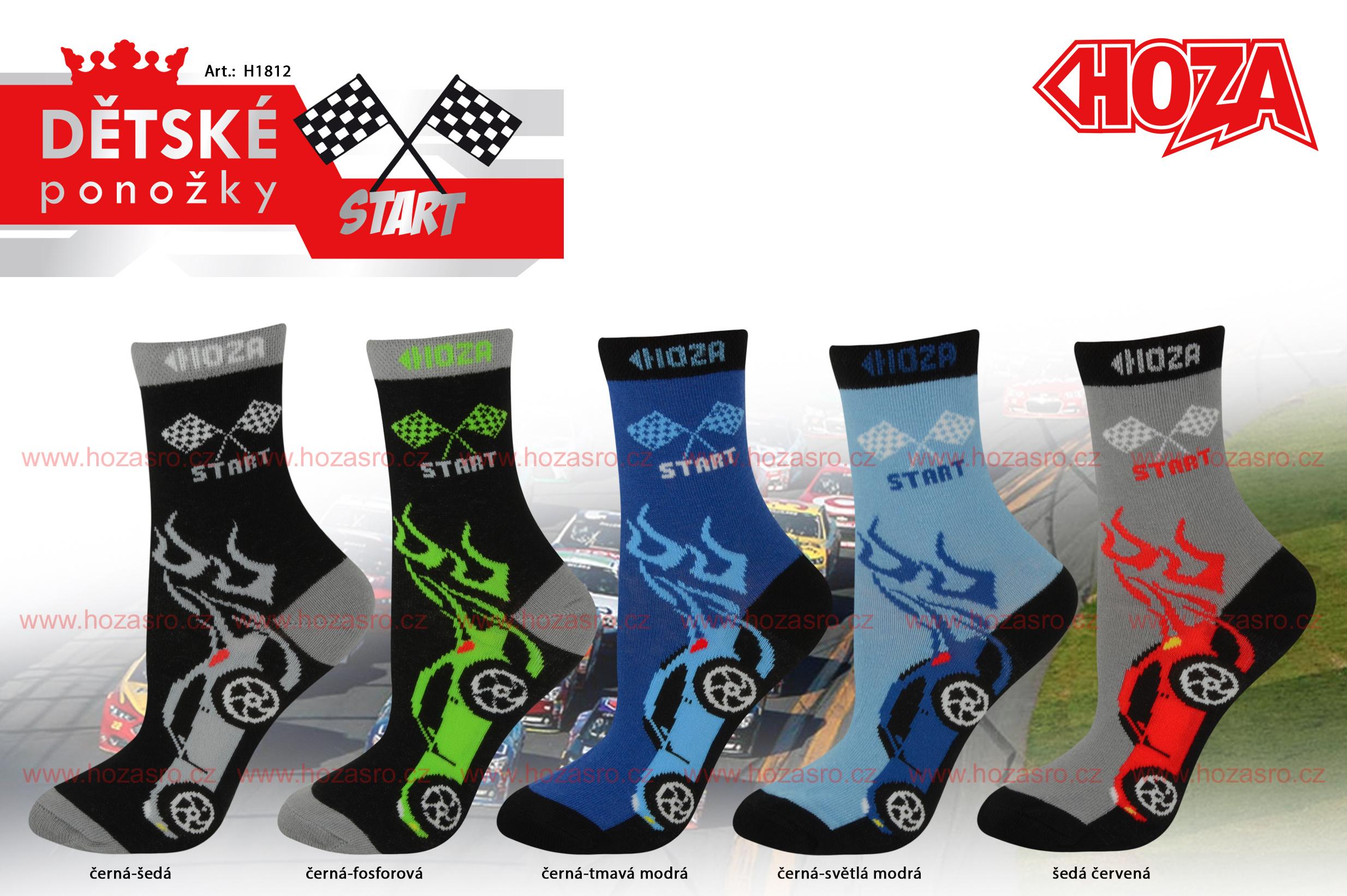 Dětské ponožky HOZA s elastanem - Auta - H1812