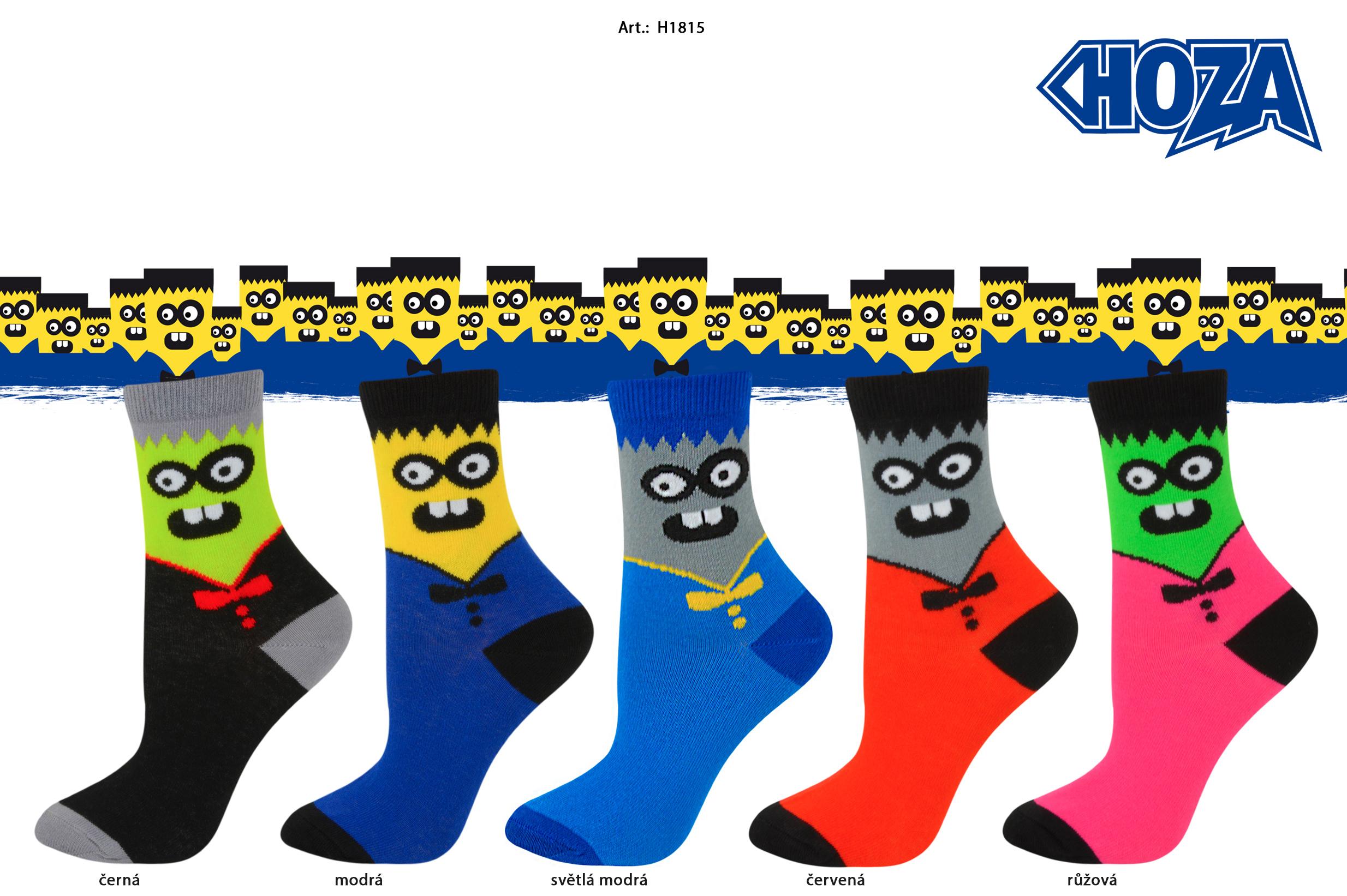 Dětské ponožky HOZA s elastanem - Obličej - H1815