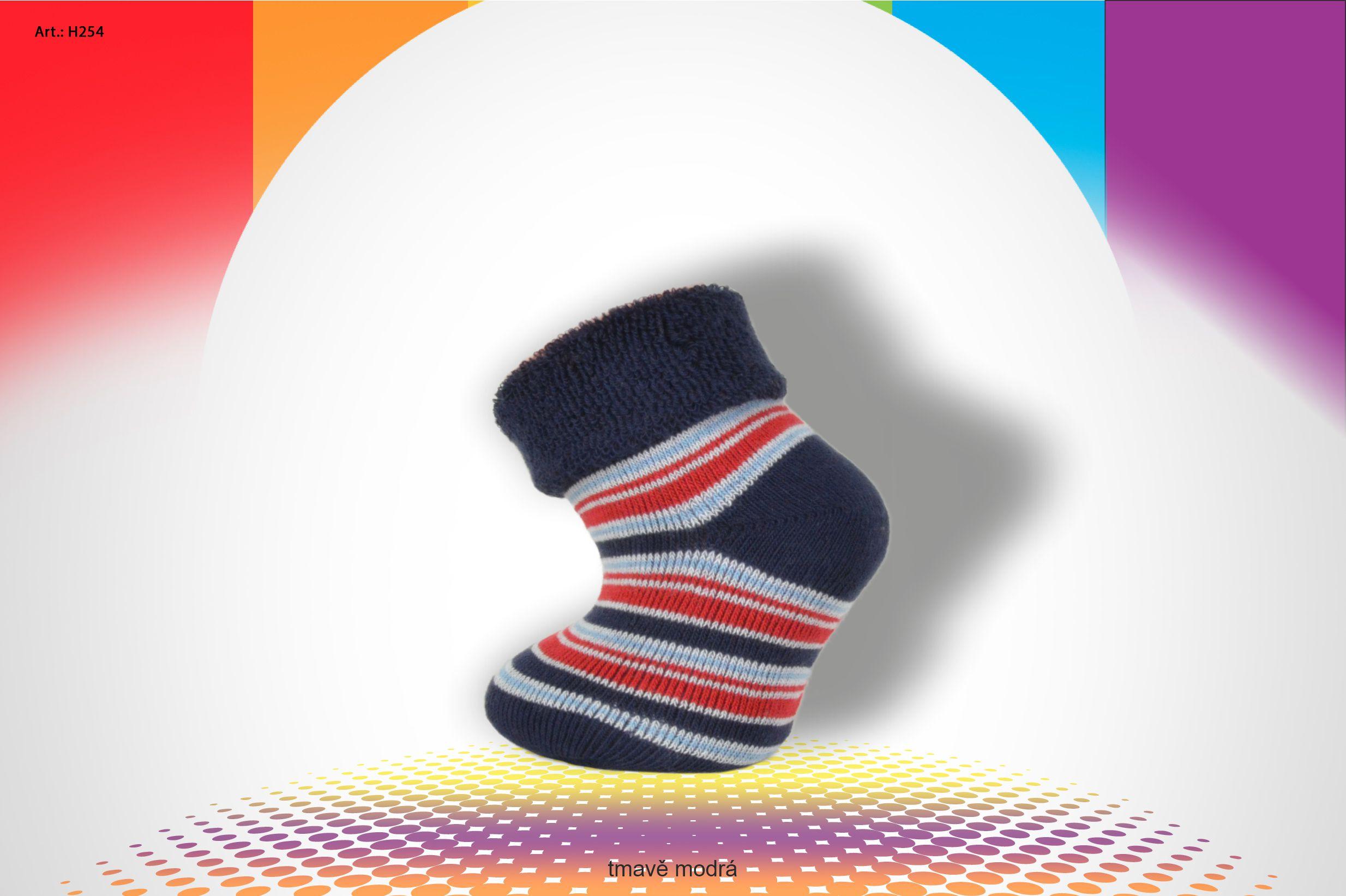 Kojenecké ponožky FROTÉ- koloušek - H253