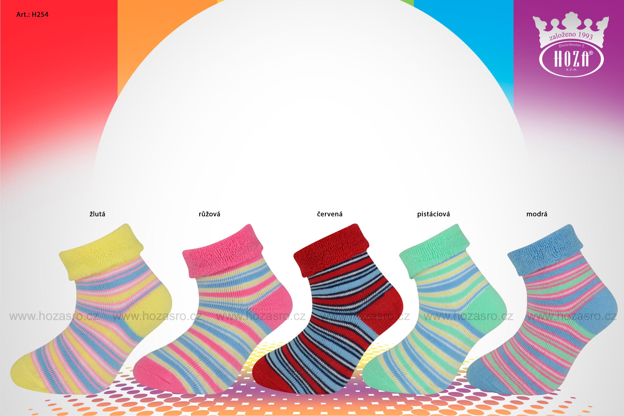 Kojenecké ponožky froté - pruhy - H254