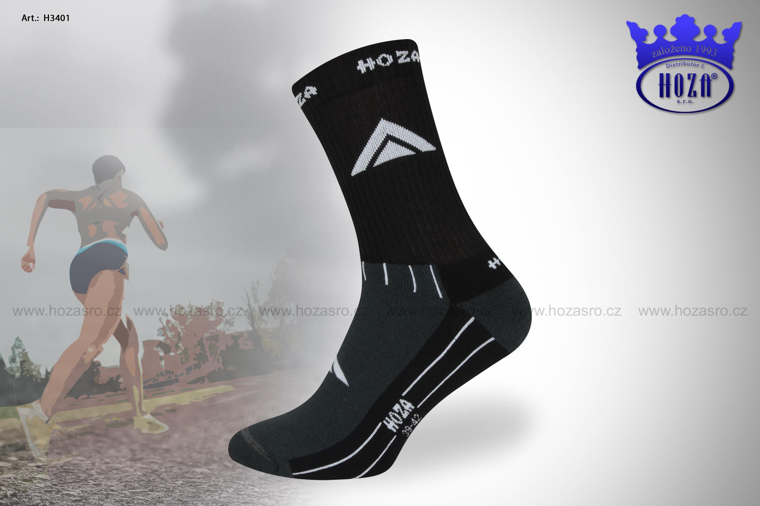 Pánské TERMO HOZA ponožky s froté - H3401