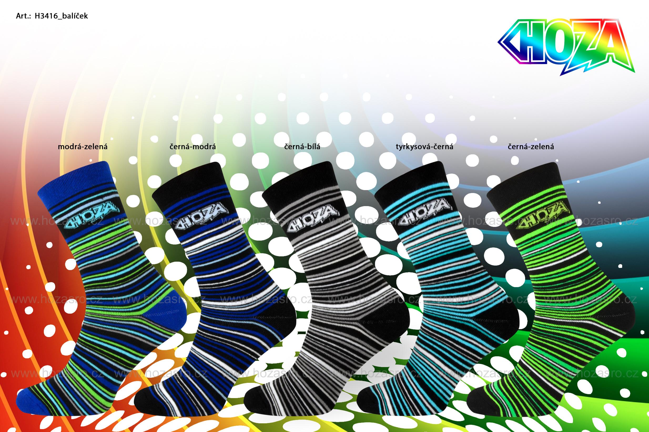 Pánské THERMO ponožky s froté - proužky - H3416