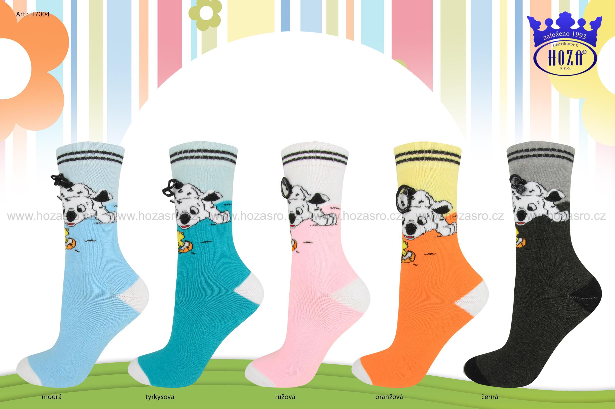 Dětské ponožky FROTÉ - pes s ušima - H7004