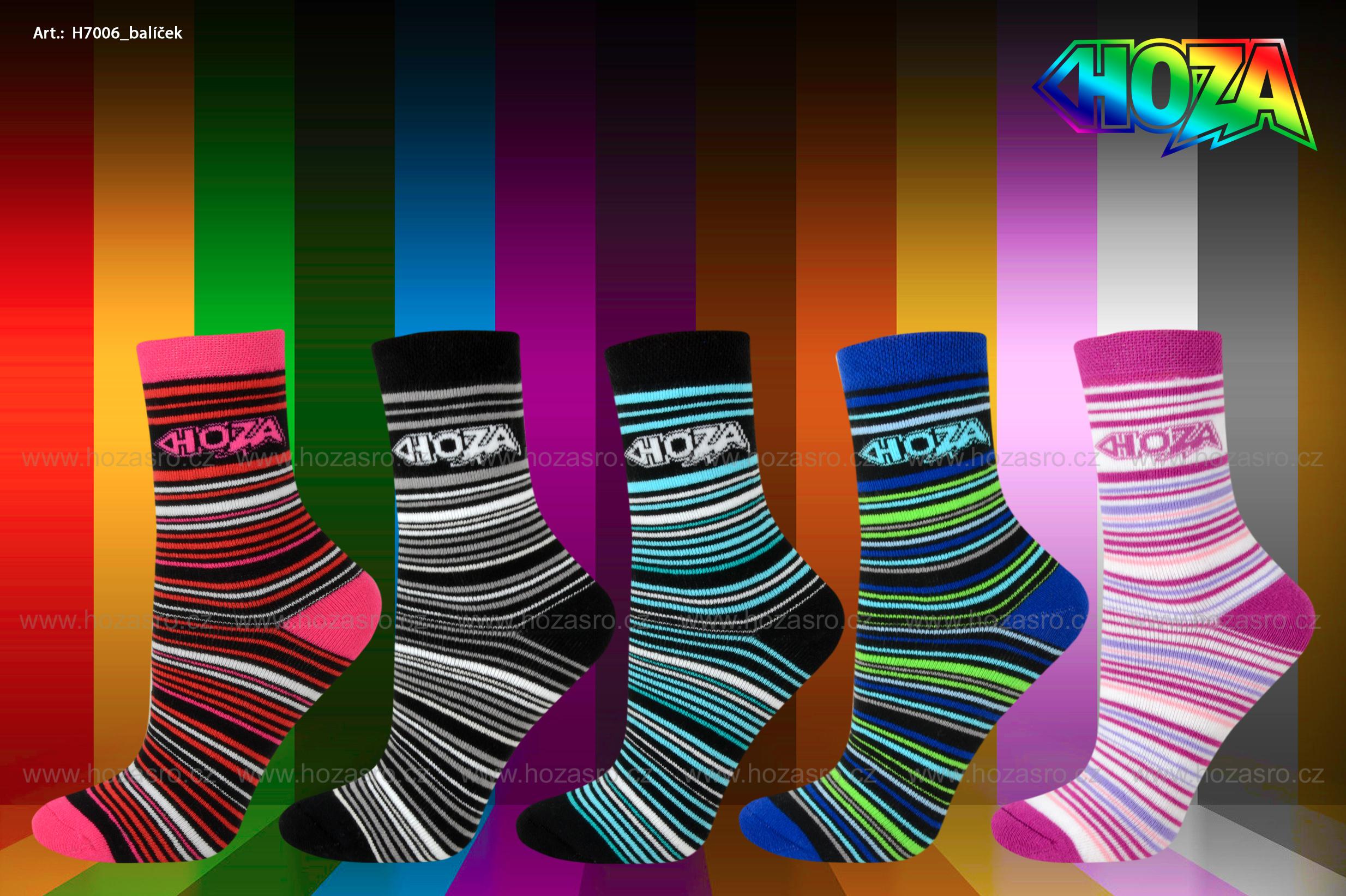 Dětské ponožky HOZA THERMO Froté - Proužky od 55kč - H7006