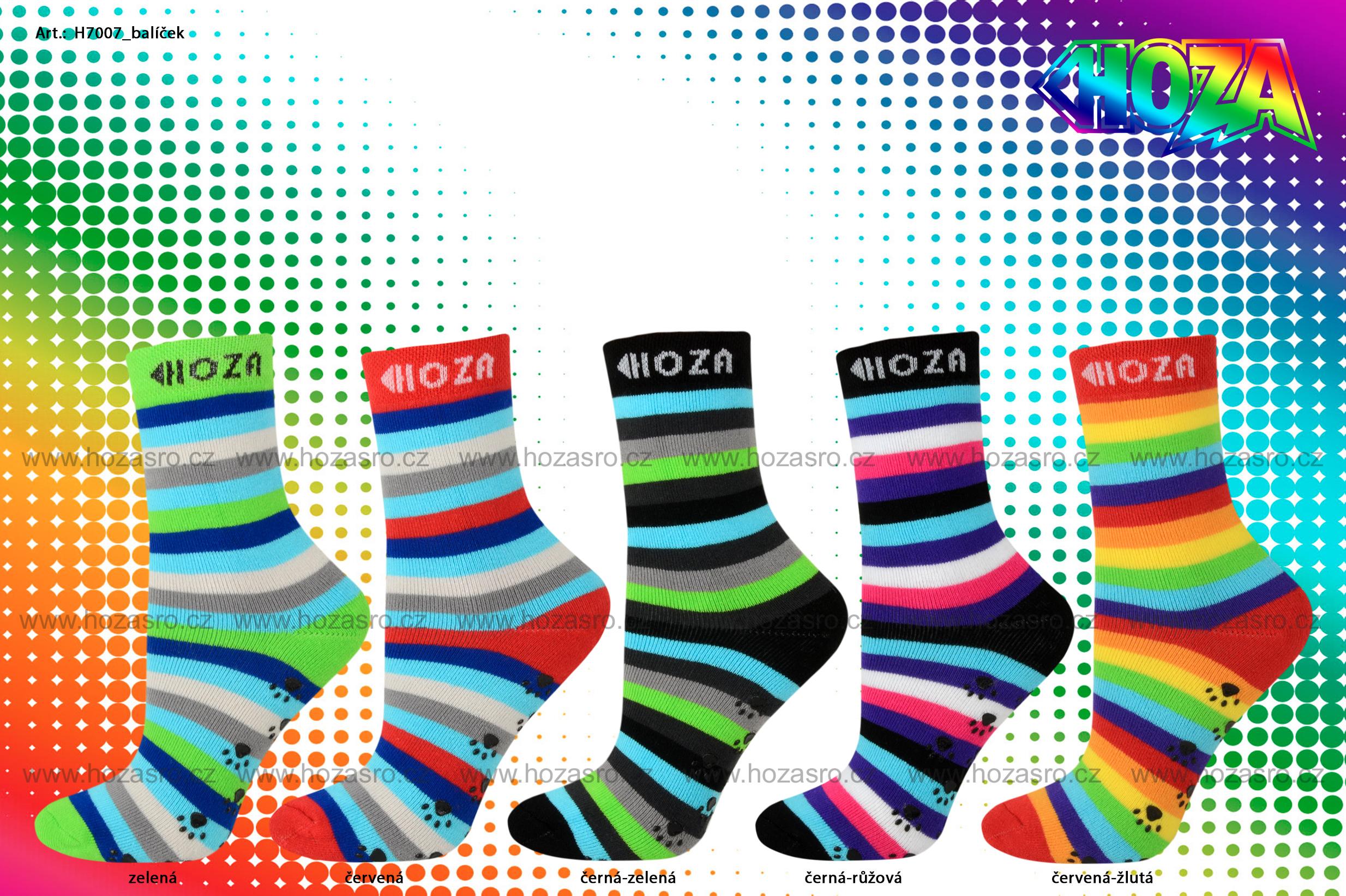 Dětské ponožky HOZA THERMO Froté - ABS ťapky - H7007