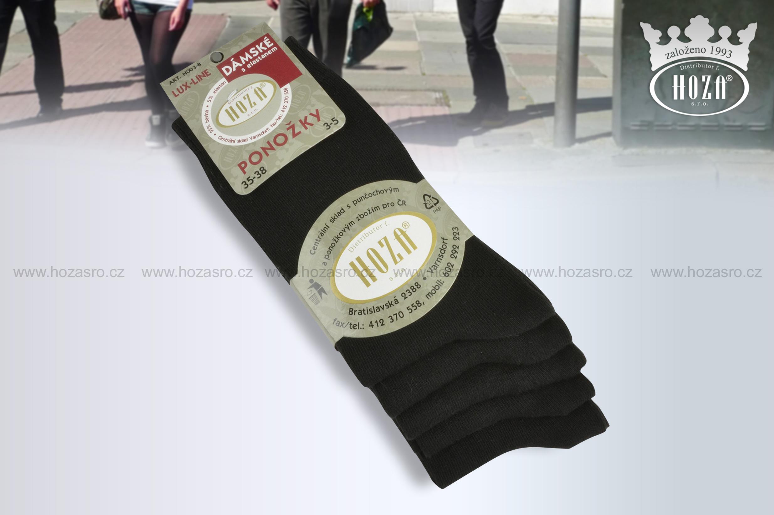 H003 B Dámské ponožky s elastanem - černé. otevřít v maximálním rozlišení 0ce0709ea6