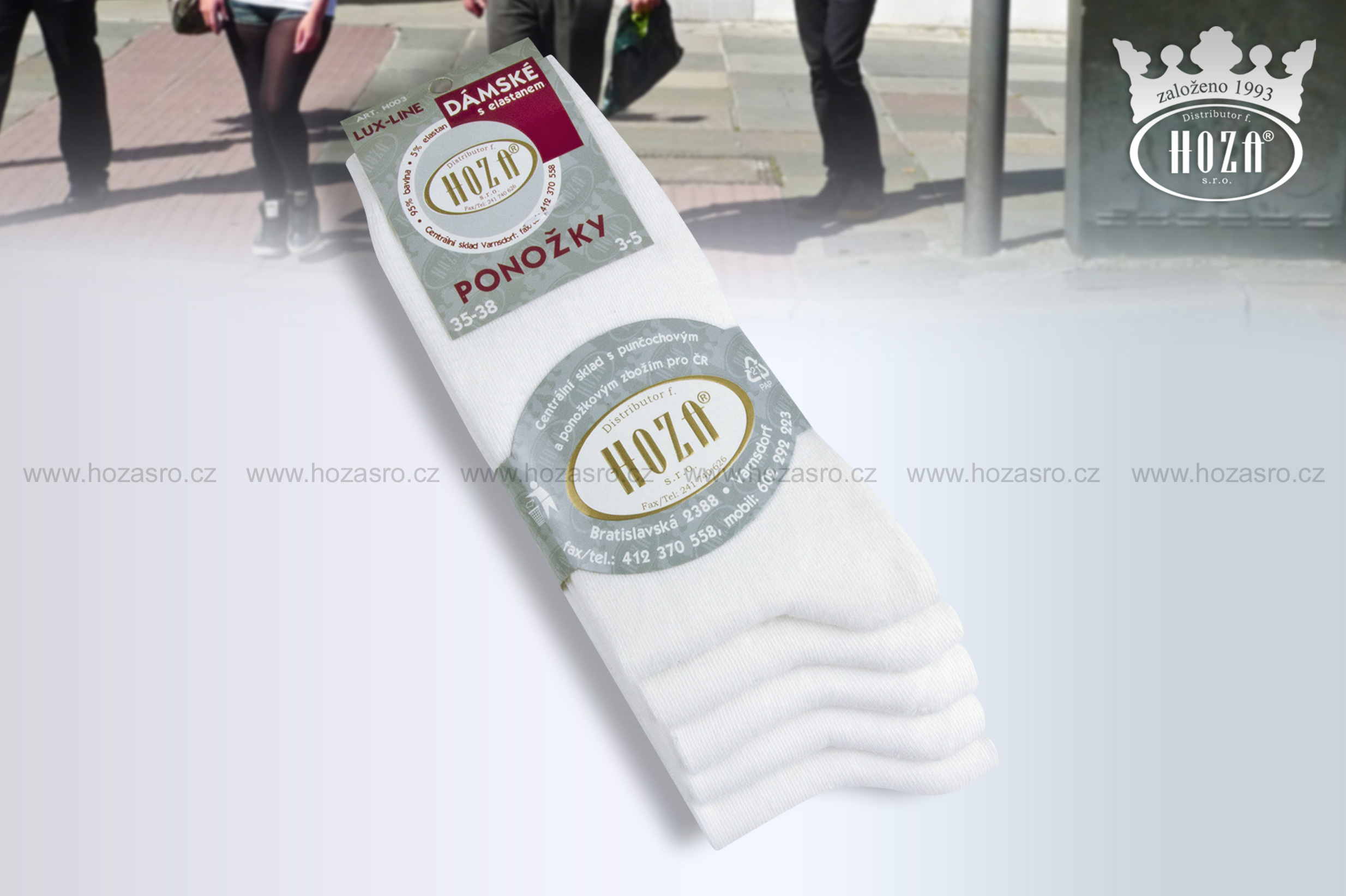H003 C Dámské ponožky s elastanem - bílé. otevřít v maximálním rozlišení 5149c74197