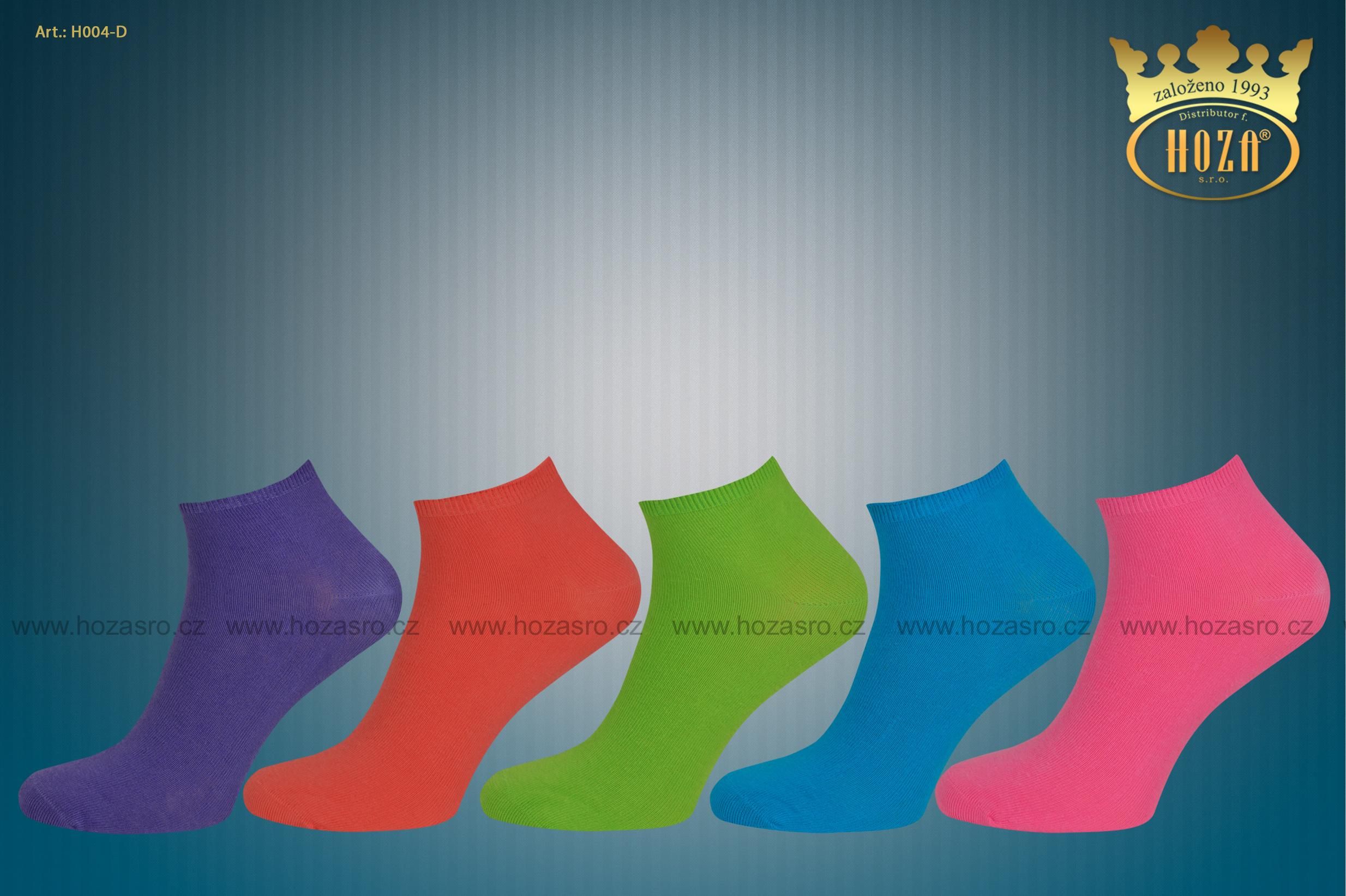 H004 ND Dámské kotníkové ponožky s elastanem. otevřít v maximálním rozlišení 57ad598005
