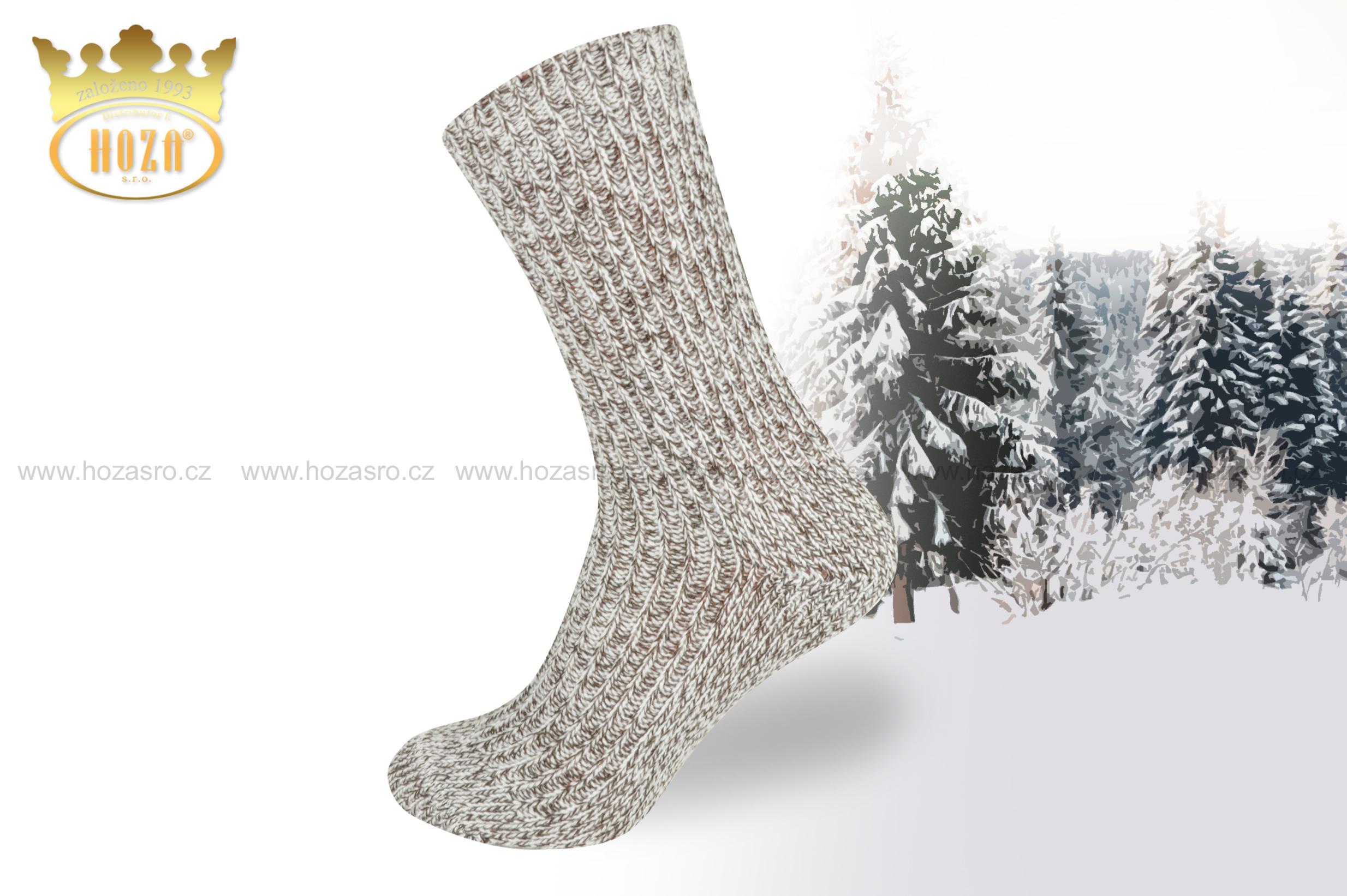 H006 Zimní ponožky HOZA Lída - melír mix. otevřít v maximálním rozlišení 21bdd9faf7
