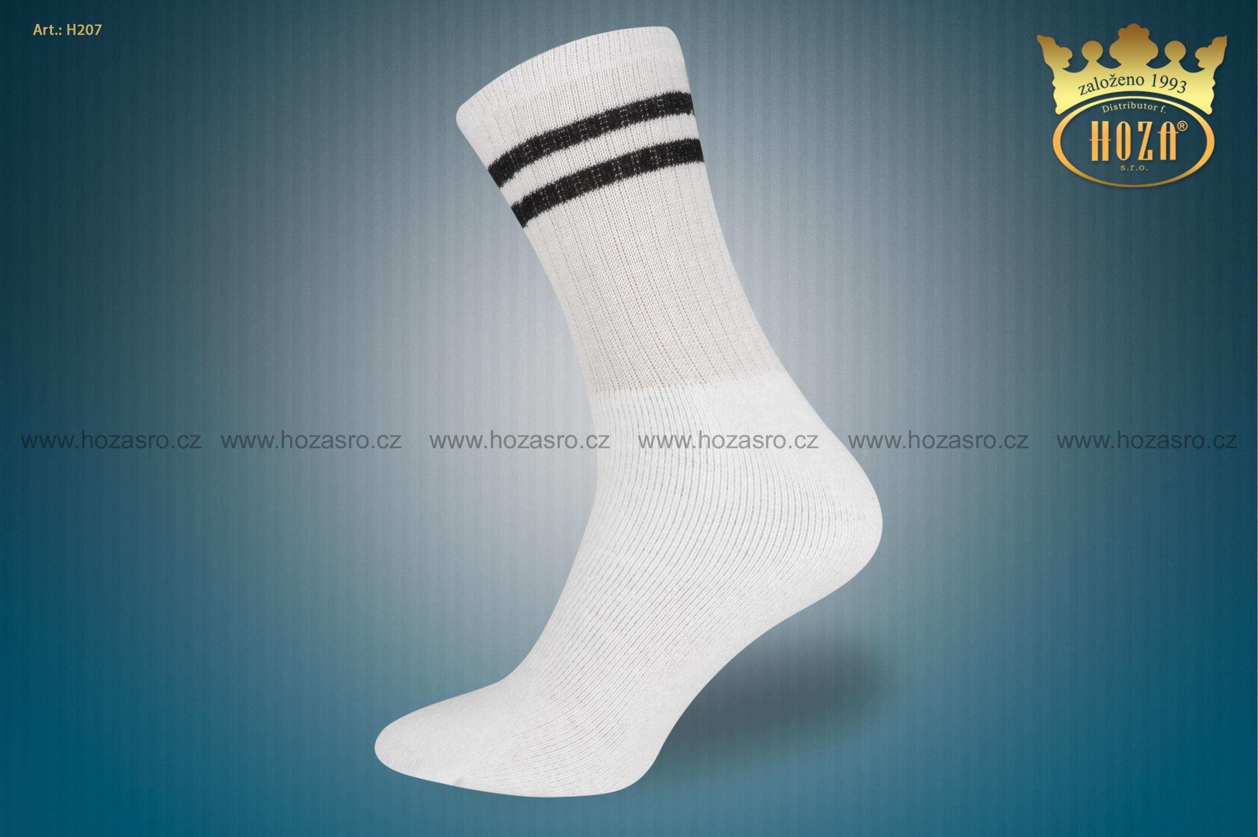H207 Dámské froté ponožky HOZA po 5 ks proužky. otevřít v maximálním  rozlišení 3a9179f007