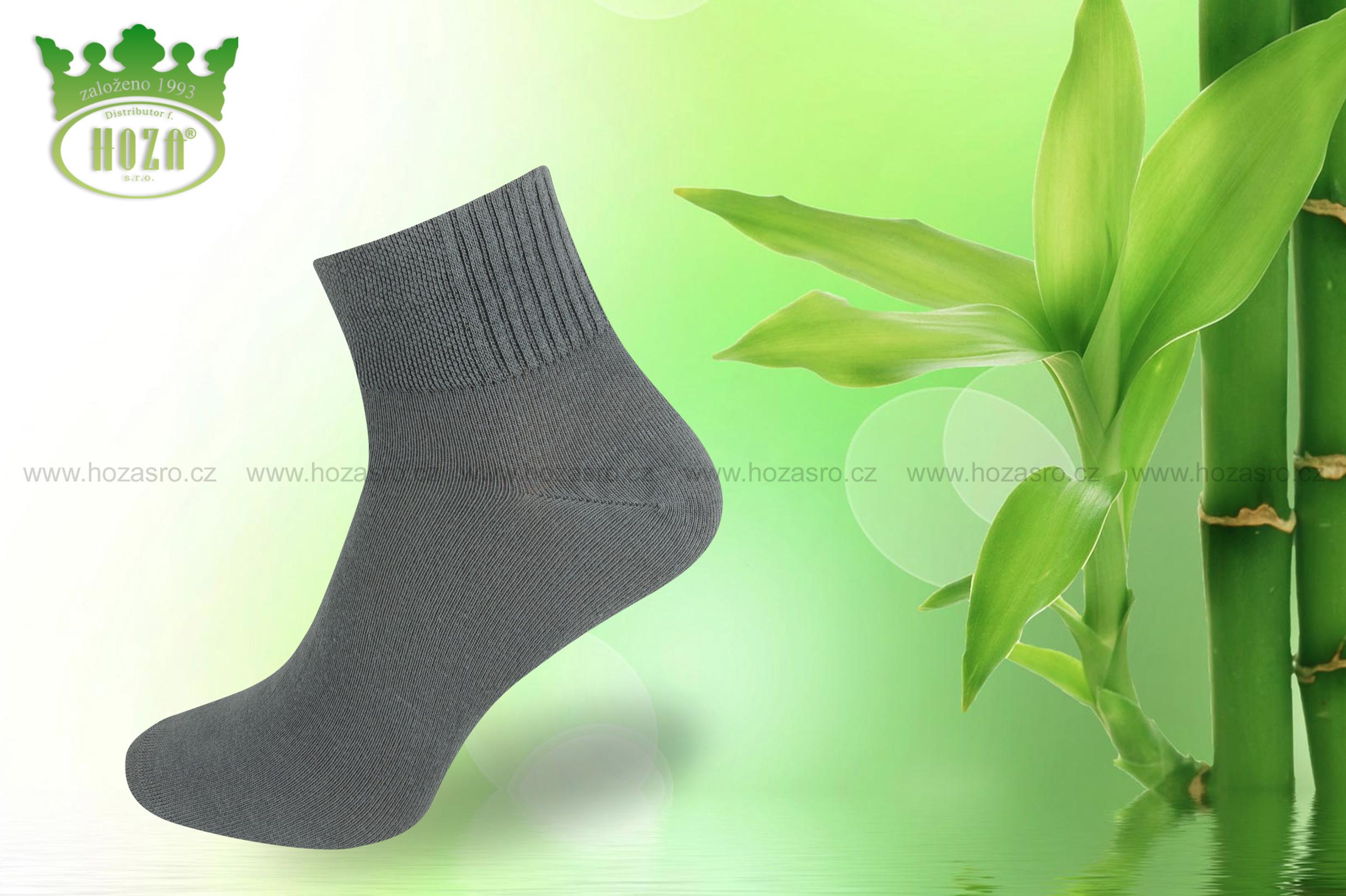 H5601 Dámské kotníkové antibakteriální bambusové ponožky HOZA. otevřít v  maximálním rozlišení aab6181f72