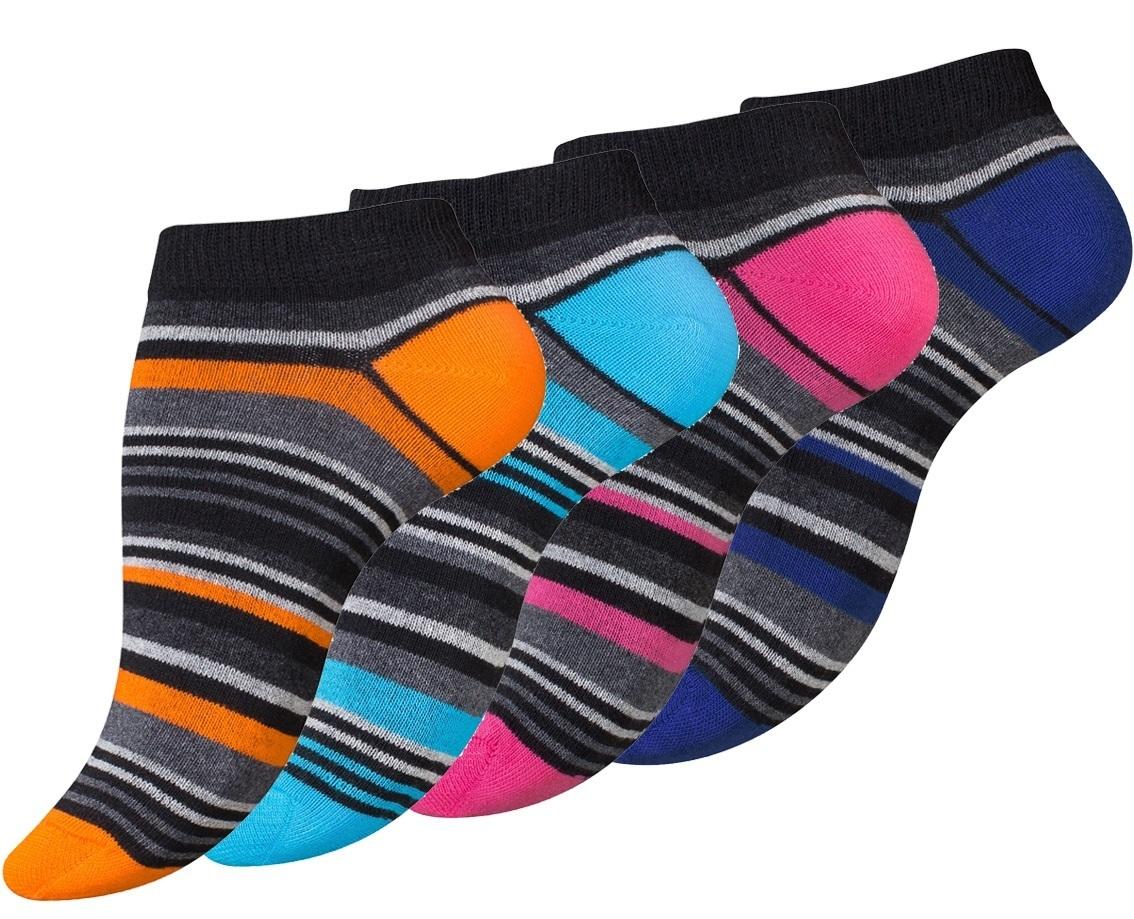 N4068 Dámské kotníkové ponožky PRUHY - 4páry. otevřít v maximálním rozlišení f4f0e2ab5b