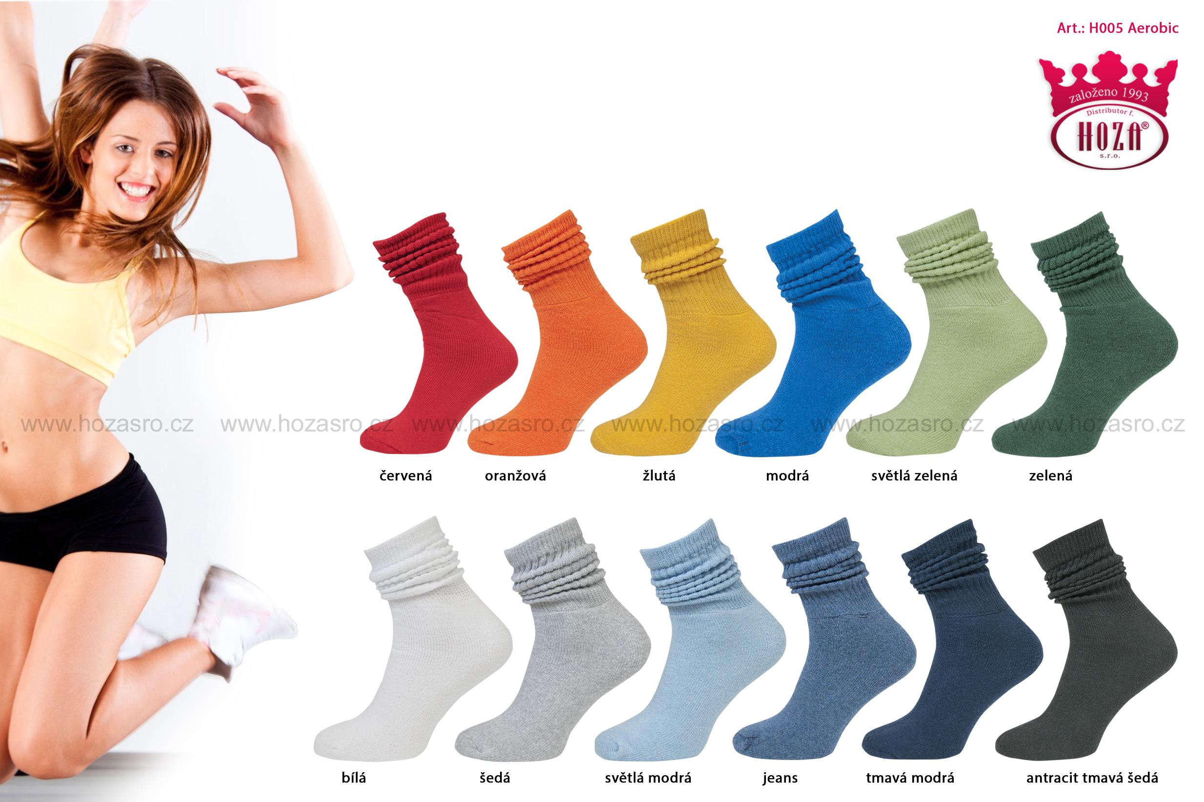 ... H005 Dámské ponožky HOZA Aerobic - černá.  katalog tmb h005 barevne-kombinace.jpg ce29ca7d8e
