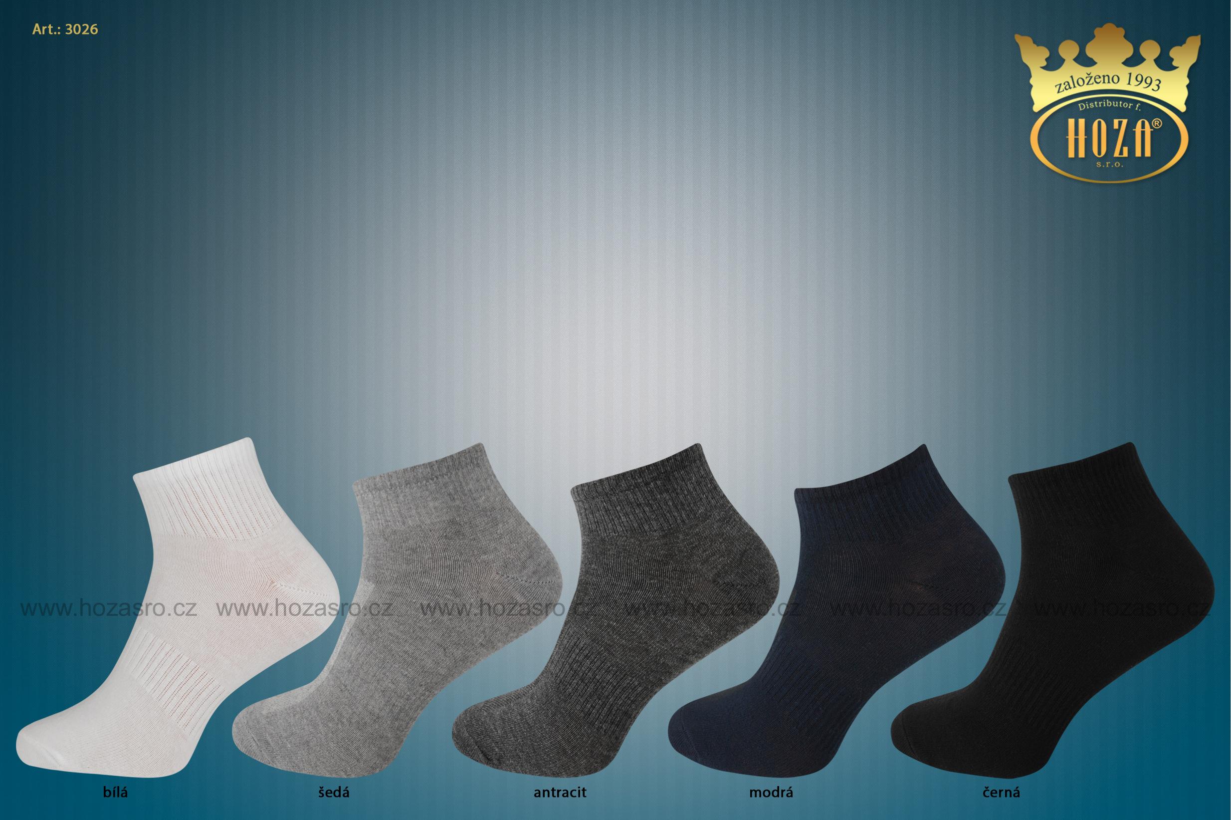 ... kotníkové ponožky HOZA s elastanem - balíček C.  katalog tmb h3026 barevna-kombinace.jpg f531525af3